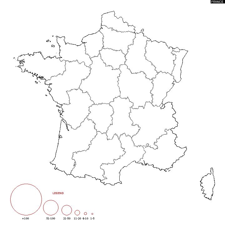 Distribution Of Surname France Surname Map